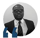 Amos Juvenal Ido, titulaire d'un Master Management de Projet