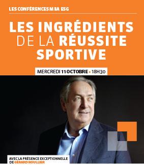 Conférence Gérard Houllier - MBA Management du sport – La réussite sportive – 11/10