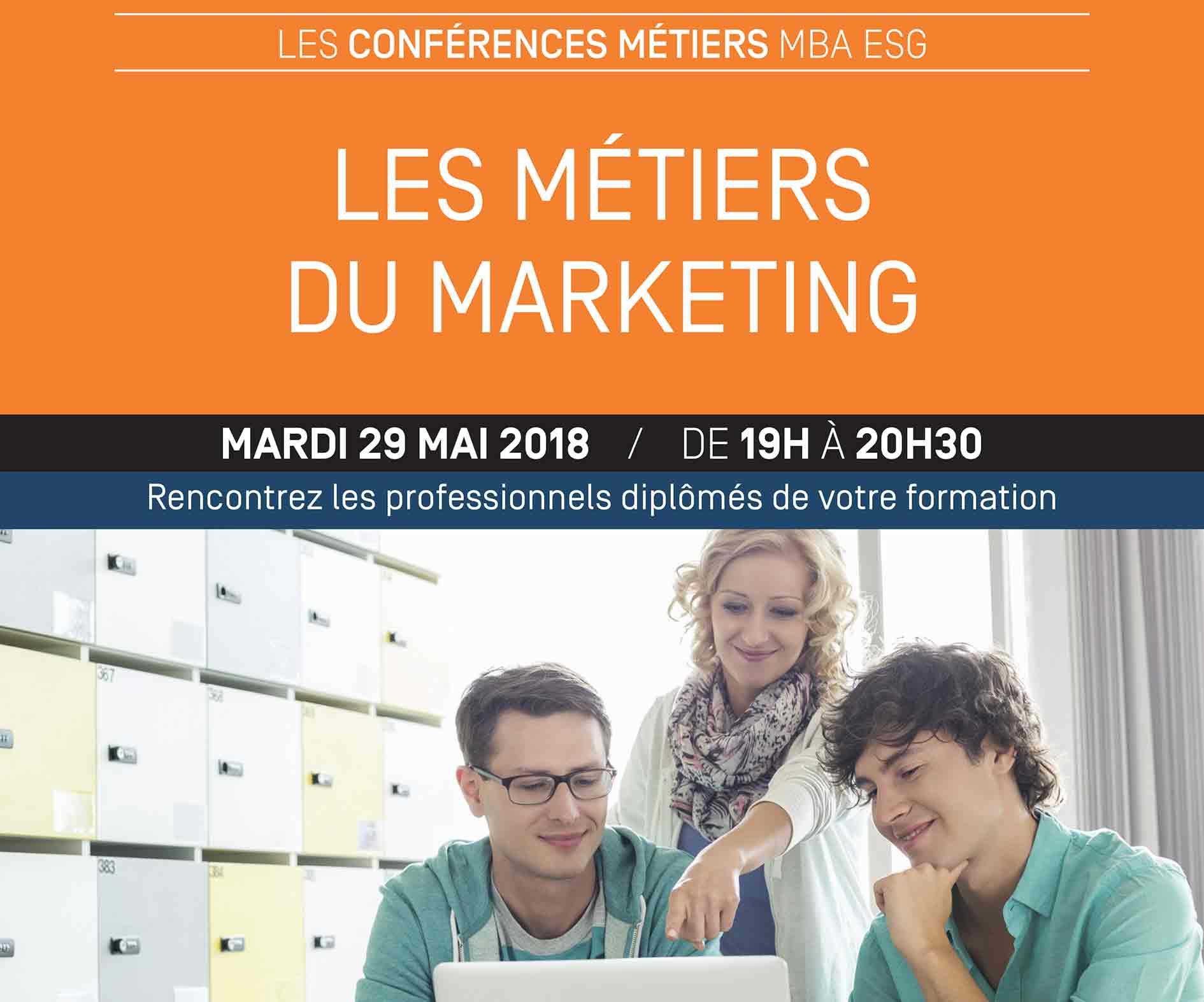 Conférence : Les métiers du marketing - mardi 29 mai - Master Marketing
