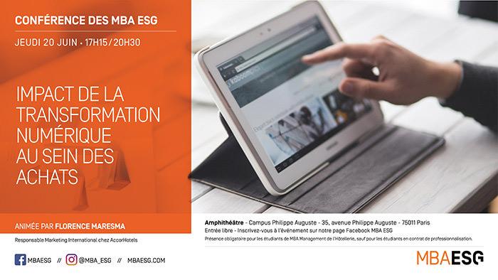 Impact de la transformation numérique au sein des achats - Master Management de l'Hôtellerie
