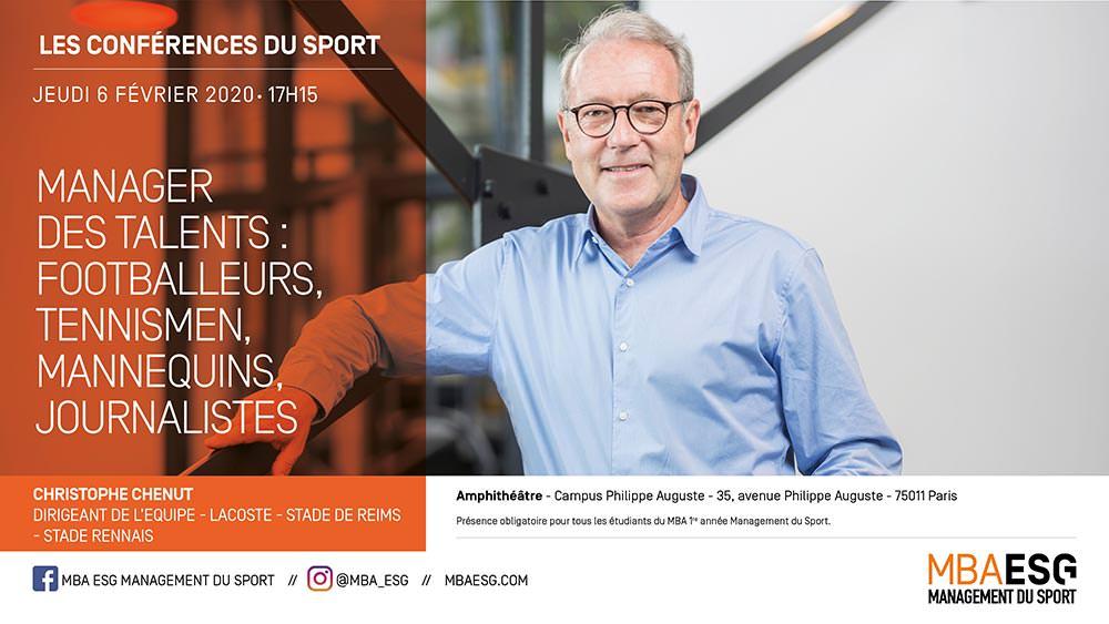 Conférence : Manager des talents : Footballeurs, tennismen, mannequins, journalistes