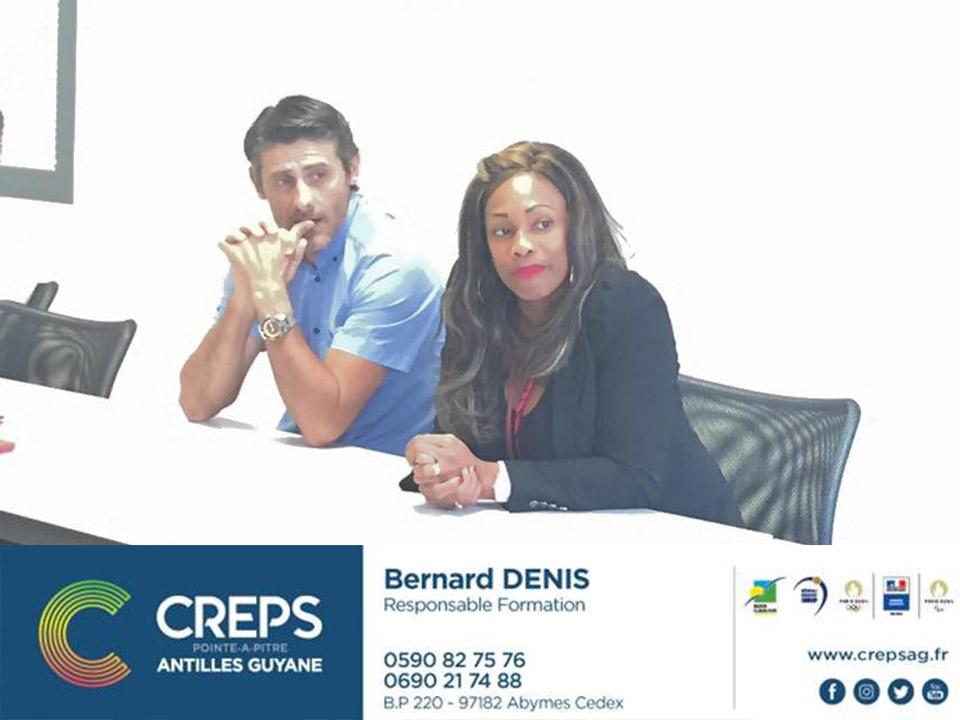 """Ouverture au CREPS Guadeloupe de """"Master Classes"""", sessions spécialisées d'informations destinées à renforcer l'expertise sportive ultramarine aux nouveaux enjeux du sport."""