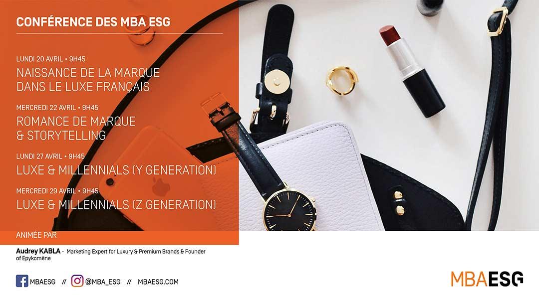 Les conférences se digitalisent pendant le confinement aux MBA ESG