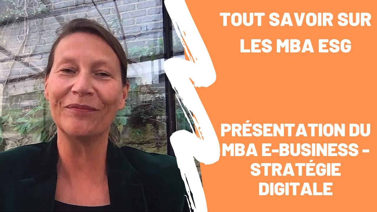 Présentation du MBA E-business - Stratégie Digitale