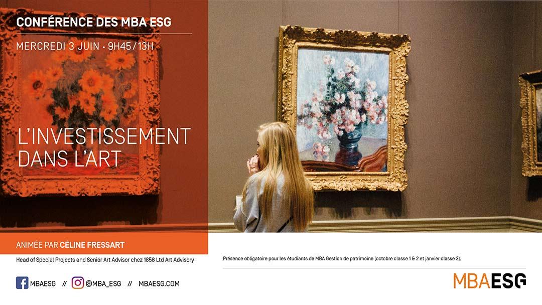 Conférence online : L'investissement dans l'art