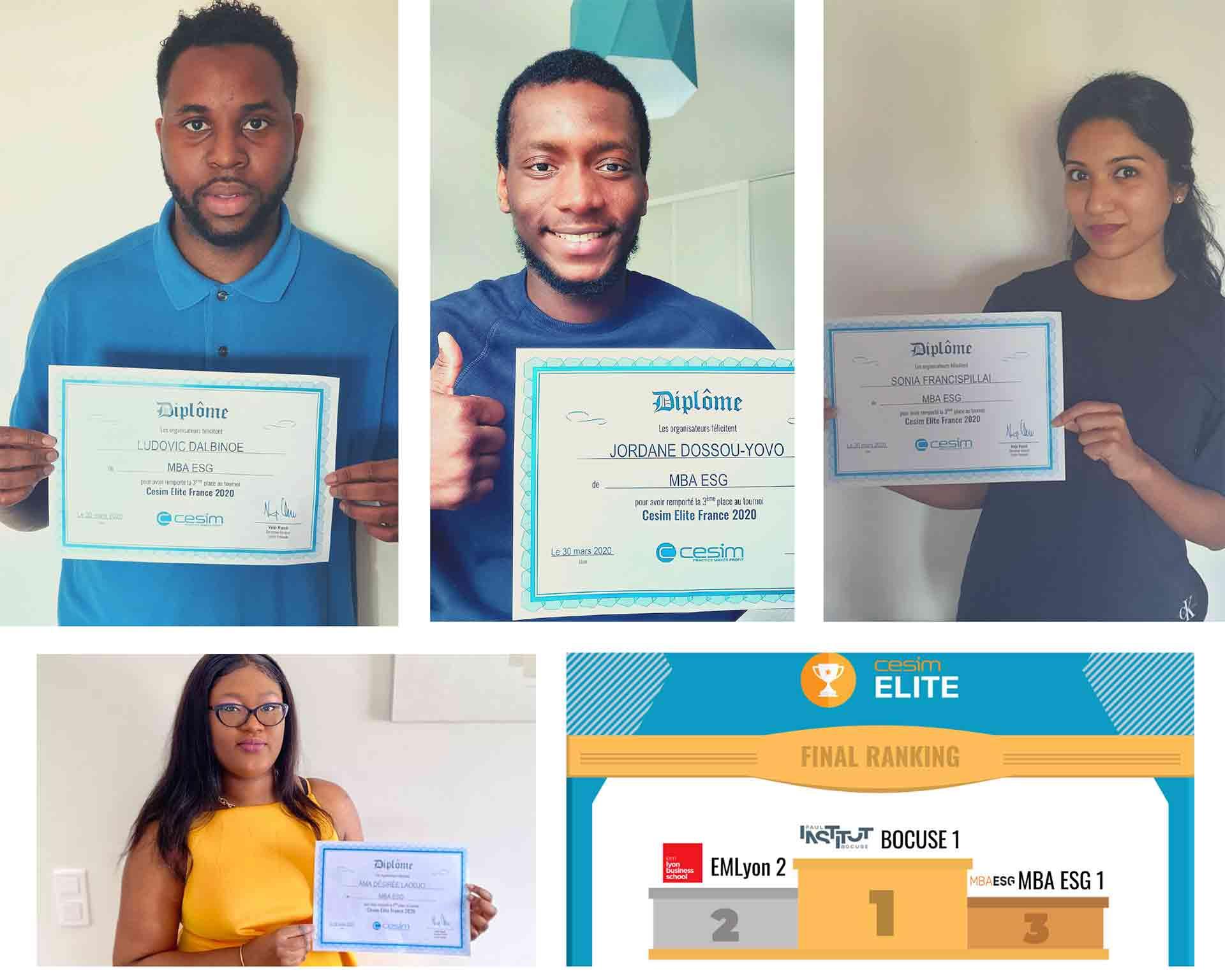 Les étudiants M2 du MBA Audit et contrôle de gestion décrochent la 3ème place lors du Business Game CESIM ELITE TOURNAMENT