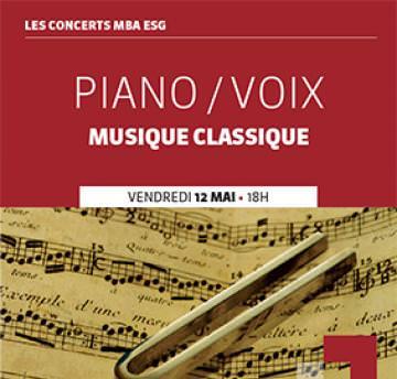 """Concert Piano / Voix organisé par les MBA ESG et """"Tout en mesure"""""""