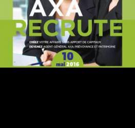 Réunion d'informations : Axa recrute - mardi 10 mai