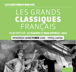 Ciné - débat - 21.10 / Les Grands Classiques Français - MBA ESG - Master Production Auiovisuelle