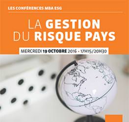 Conférence professionnelle 19.10 - Gestion du risque Pays - MBA ESG, Master Commerce international