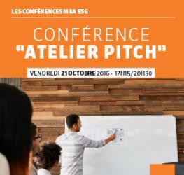 """Conférence professionnelle 21.10 - """"Atelier Pitch"""" - MBA ESG - Master Communication et événementiel"""