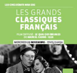 Ciné débat MBA ESG - 23.11 - Les Grands Classiques - Master Production audiovisuelle et musicale