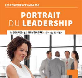 Conférence professionnelle MBA ESG 30.11 - Portrait du leadership - Master communication