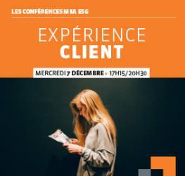 Conférence professionnelle MBA ESG  07.12 - L'Expérience client - Master Marketing