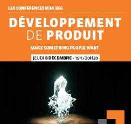 Conférence professionnelle 08.12 MBA ESG - Le développement de produit - Master Marketing