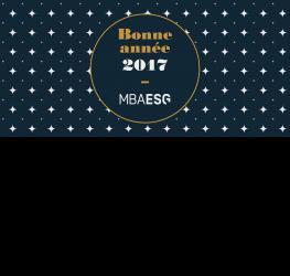 Les MBA ESG vous présentent leurs meilleurs voeux pour 2017 !