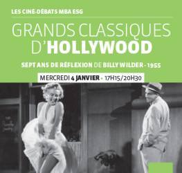 Ciné-débat MBA ESG 04/01 : « Les Grands Classiques d'Hollywood » - Master Production audiovisuelle