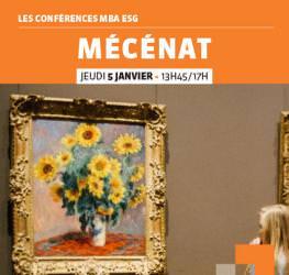 Conférence professionnelle 05/01 MBA ESG : « Le Mécénat» - Master Communication et événementiel