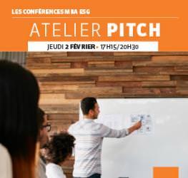 Conférence 02/02 : « Atelier Pitch » Master Communication Evénementiel
