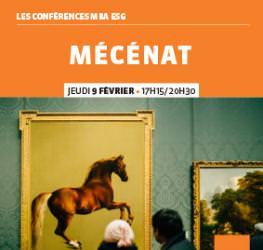 """Conférence professionnelle 09/02 """"Mécénat"""" Master Communication/Evénementiel"""