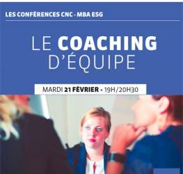 Conférence professionnelle MBA ESG 21/02: «Le Coaching d'équipe»