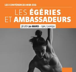 Conférence professionnelle MBA ESG 30.03 - Les égéries et les ambassadeurs.