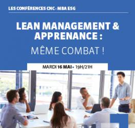 Conférence professionnelle 16/05 : « Lean Management et Apprenance : même combat ! »