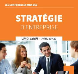Conférence professionnelle 22/05 : « Stratégie d'entreprise»