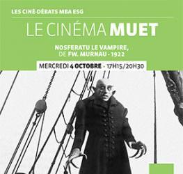 Ciné débat MBA ESG - Le cinéma muet - 4/10