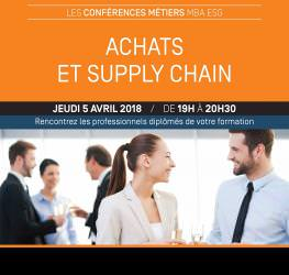 Conférence métiers Achats et Supply Chain - jeudi 5 avril