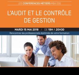 Conférence métiers Audit et contrôle de gestion - mardi 15 mai