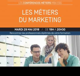 Conférence : Les métiers du marketing - mardi 29 mai - Master Marketing