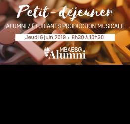 Retour sur le Petit-déjeuner Alumni / Etudiants MBA Production Musicale - master production musicale