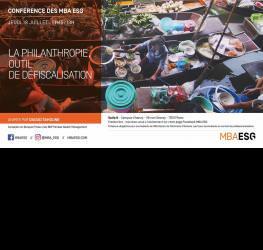 Conférence : La philanthropie, outil de défiscalisation - Master gestion de patrimoine