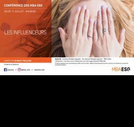 Conférence : Les Influenceurs - master communication et événementiel