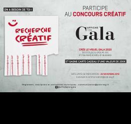 Lancement du concours visuel : Affiche ton GALA 2020