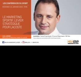Conférence : Le marketing sportif, levier stratégique pour Lacoste