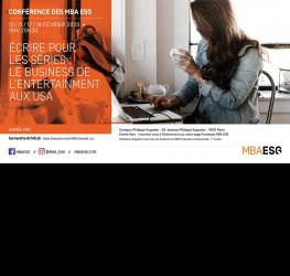 Conférence : Écrire pour les séries, le business de l'Entertainment aux USA