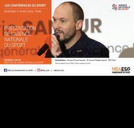 Conférence : Présentation de l'Agence Nationale du Sport