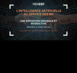 L'intelligence Artificielle au service des ressources humaines :  Une exposition originale et interactive des MBA ESG